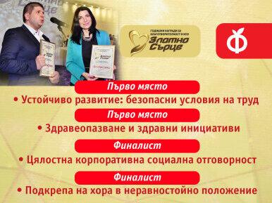 """Четири отличия за ФАНТАСТИКО на годишните награди """"Златно сърце"""""""