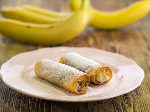 Пурички с банани и шоколад