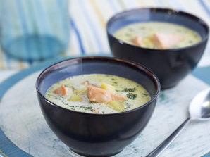 Финландска супа със сьомга