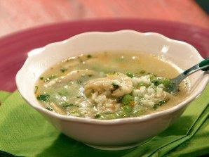 Зеленчукова супа с ориз и лимон